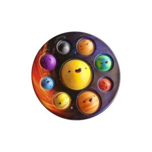 Cute Solar System Pop It Fidget Dimple Simple Anti Stress Toy