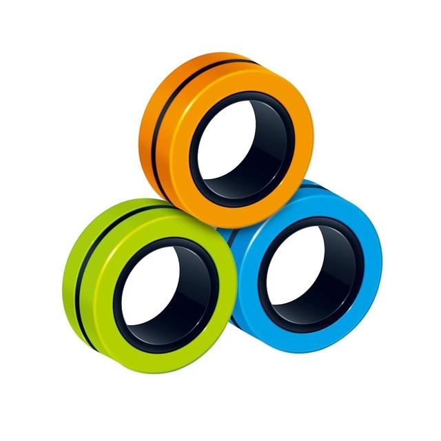 3pc Fidget Toys Magnetic Bracelet Ring Unzip Toy Magic Ring Props Tools Decompression Toys Fidget Toys 5.jpg 640x640 5 - Simple Dimple Fidget