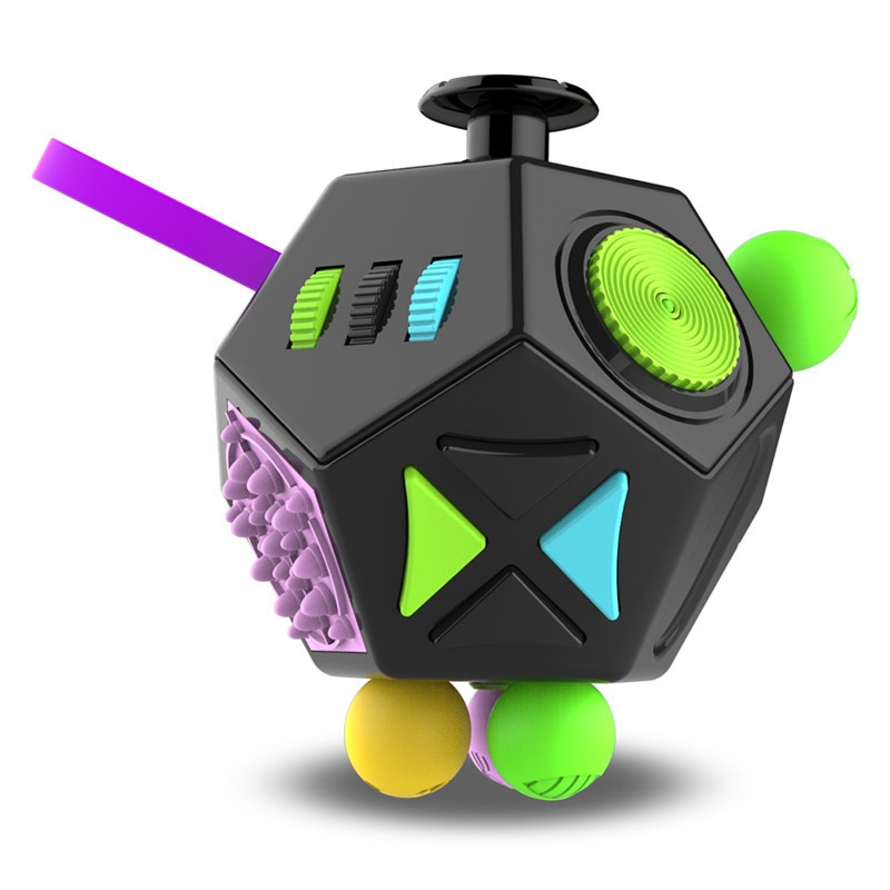EDC Hand For Autism ADHD Anxiety Relief Focus Kids 12 Sides Anti Stress Magic Stress Fidget - Simple Dimple Fidget