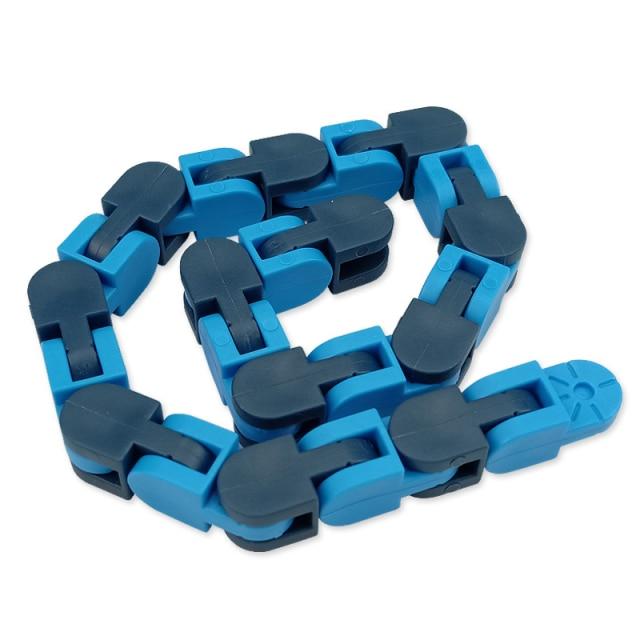 New 48 Knots Wacky Tracks Fidget Antistress Chain Toy For Children Bike Chain Stress Relief Bracelet 15.jpg 640x640 15 - Simple Dimple Fidget